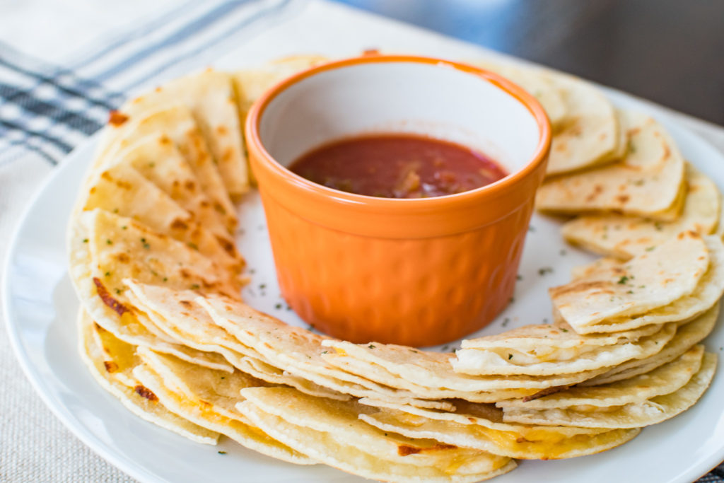 quick and easy party snack quesadilla bites