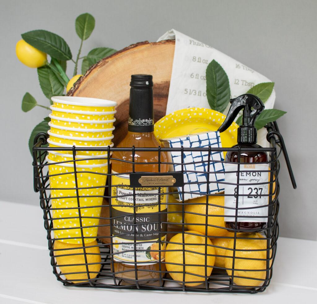 magnolia homes joanna gaines styled lemon gift summer basket
