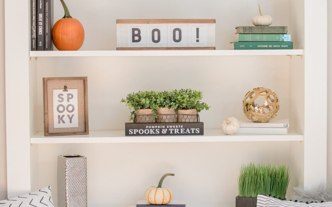 Easy Rules To Follow- How To Decorate Shelves and Built Ins