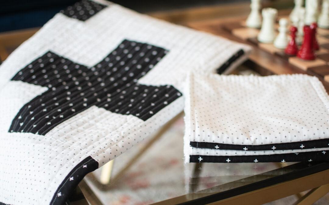Quick & Easy DIY Plus Quilt & Burp Cloths + Free Patterns